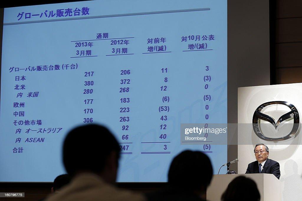 Mazda CEO Takashi Yamanouchi Earnings News Conference
