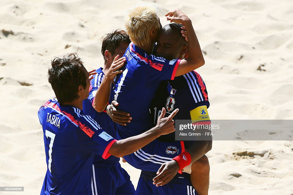 Japan v Argentina: Group A - FIFA Beach Soccer World Cup : Nieuwsfoto's