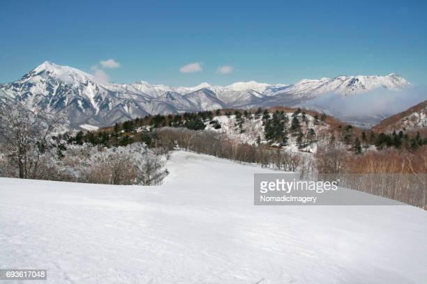 Takatsuma mountain snow white landscape view