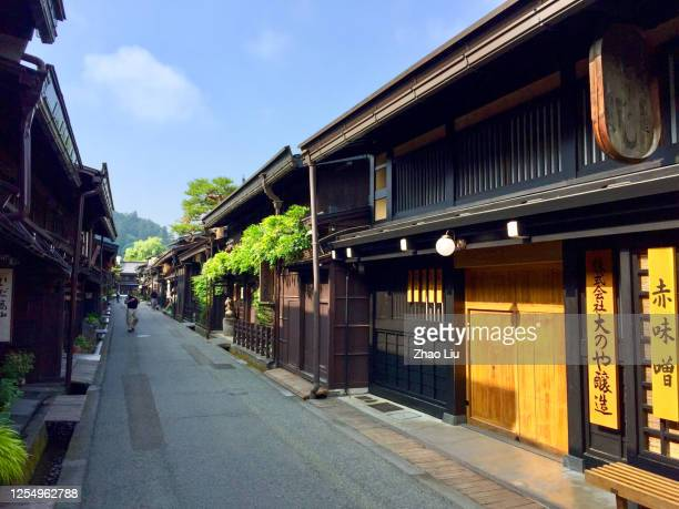 takayama: an ancient japanese town lost in time - takayama city stock pictures, royalty-free photos & images