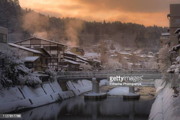 takayama in winter - takayama city stock pictures, royalty-free photos & images