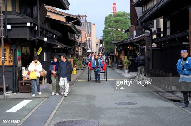 takayama old town, sanmachi suji - takayama city stock pictures, royalty-free photos & images