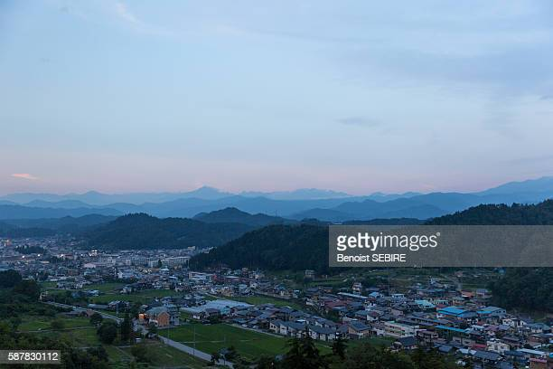 takayama panorama - takayama city stock pictures, royalty-free photos & images