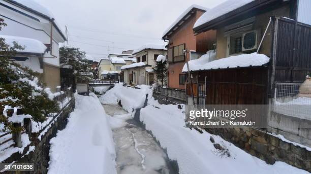 Takayama snowy residential district