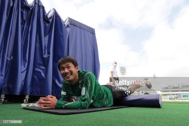 Takayuki FUKUMURA of Tokyo Verdy warms up prior to the J.League Meiji Yasuda J2 match between Tokyo Verdy and Giravanz Kitakyushu at Ajinomoto Field...