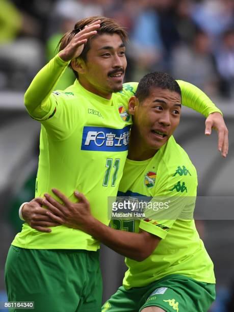 Takayuki Funayama of JEF United Chiba celebrates the first goal during the JLeague J2 match between JEF United Chiba and Matsumoto Yamaga at Fukuda...