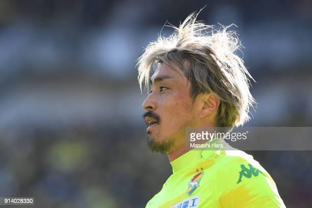 Takayuki Funayama of JEF United Chiba looks on during the preseason friendly match between JEF United Chiba and Kashiwa Reysol at Fukuda Denshi Arena...
