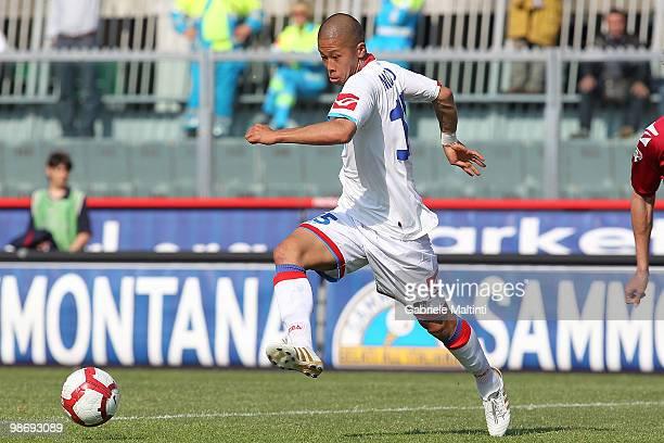 Takayuki Morimoto of Catania Calcio in action during the Serie A match between AS Livorno Calcio and Catania Calcio at Stadio Armando Picchi on April...