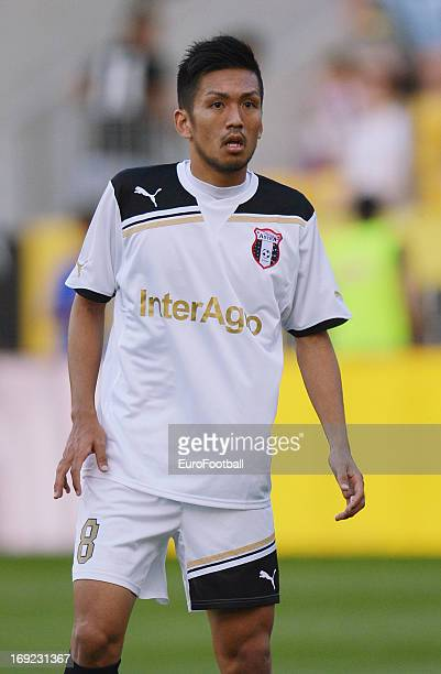Takayuki Seto of FC Astra Ploiesti in action during the Romanian First Division match between FC Petrolul Ploiesti and FC Astra Ploiesti held on May...