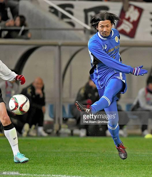 Takayuki Suzuki of Japan Stars in action during the Hanshin Great Earthquake 20th Anniversary Charity Match at Noevir Stadium Kobe on January 17,...