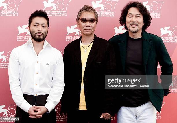 Takayuki Yamada Koji Yamada Takashi Miike attend the photocall of movie '3 Assassins' presented in competiiton at the 67th Venice Film Festival