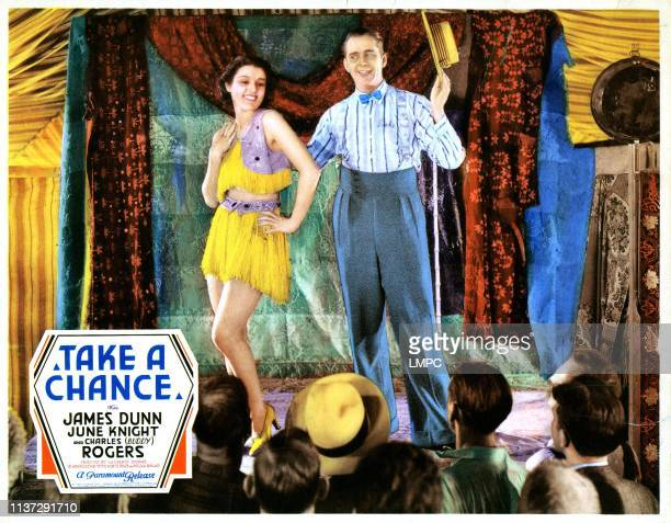 Take A Chance lobbycard from left Lillian Roth James Dunn 1933
