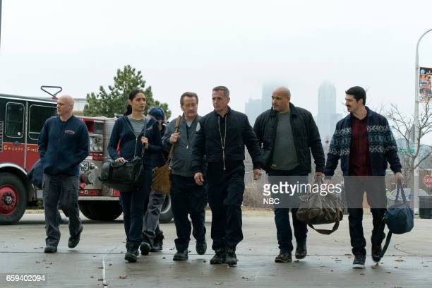FIRE 'Take A Knee' Episode 518 Pictured Miranda Rae Mayo as Stella Kidd Christian Stolte as Randall McHolland David Eigenberg as Christopher Herrmann...