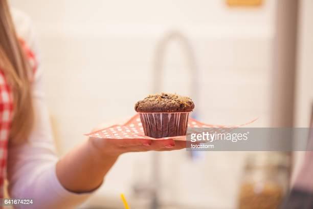 Take a muffin
