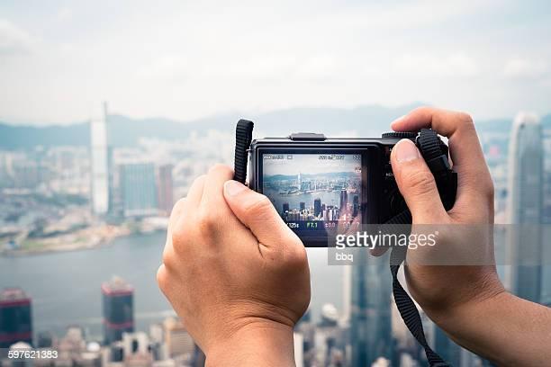 take a photo to Hong Kong