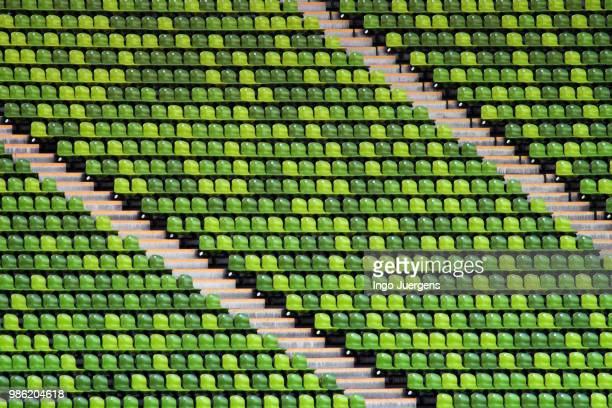 take a seat - olympic stadium stock pictures, royalty-free photos & images