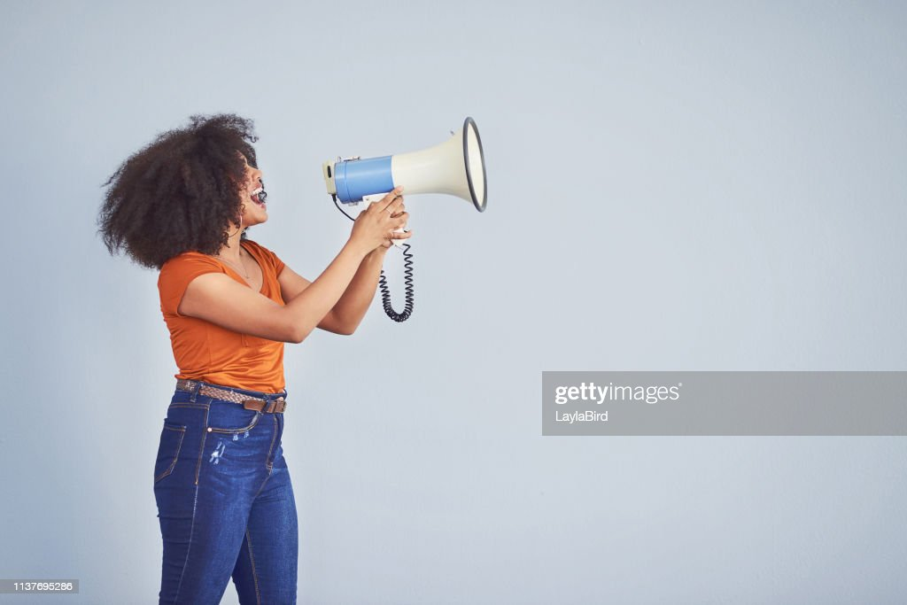 Take a stand for every woman out there : Stock Photo