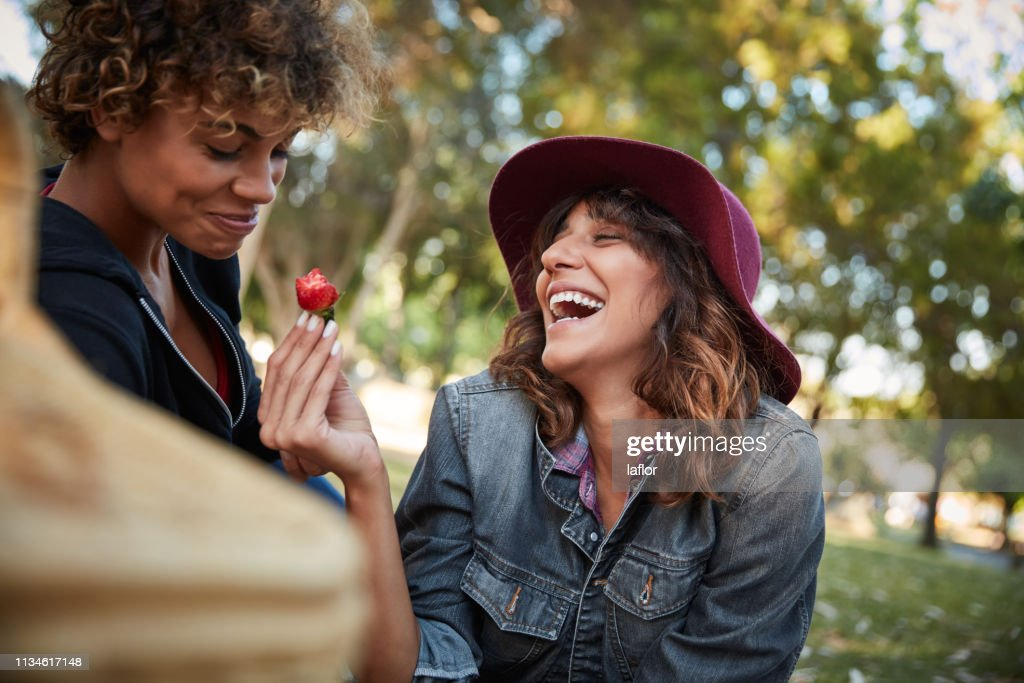 Take another bite of the love fruit : Stock Photo