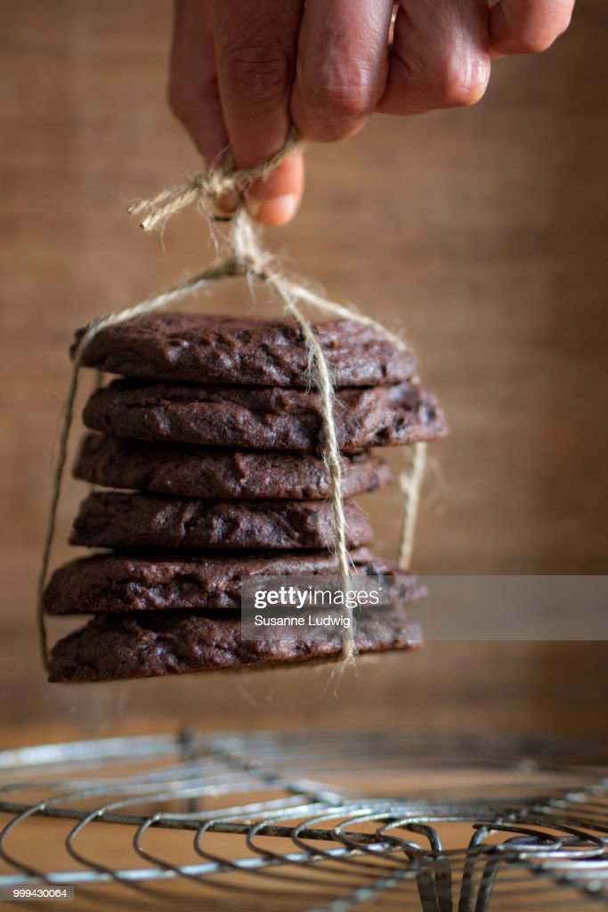 take away chocolate cookies : Stock Photo