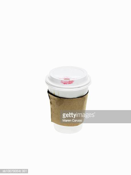 take away coffee container with lipstick stain