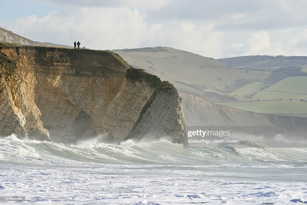 Take care, cliff edges can be dangerous : Stock Photo