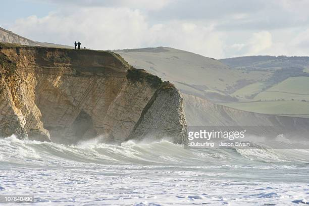 take care, cliff edges can be dangerous - s0ulsurfing stock pictures, royalty-free photos & images