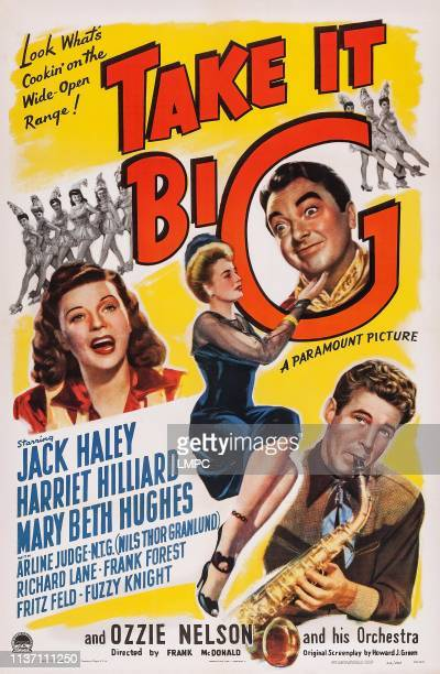 Take It Big poster US poster art from left Harriet Hilliard Mary Beth Huges Jack Haley Ozzie Nelson 1944