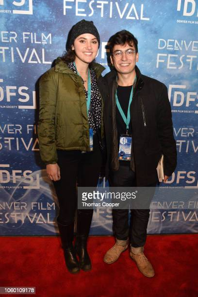 Take Me Home producer Alexandra Kern and director Oliver Zaciu on the red carpet closing night of the 41st annual Denver Film Festival on November 10...