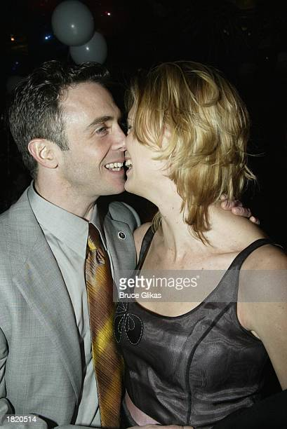 Take Me Out star David Eigenberg and wife Chrysti L Eigenberg at the Opening Night Party of Take Me Out on Broadway at The Supper Club on February 27...