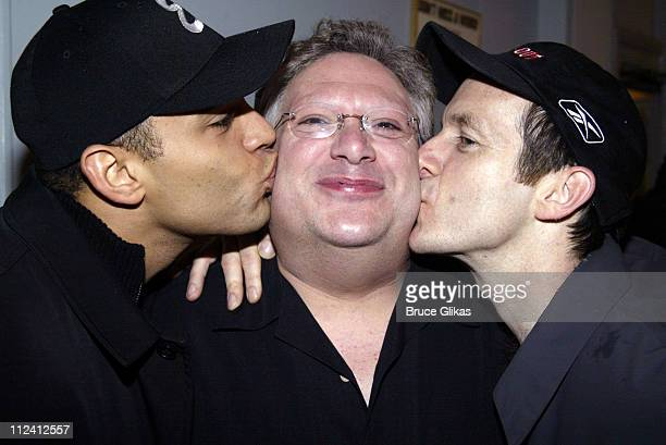 'Take Me Out' stars Daniel Sunjata and Denis O'Hare kiss 'Hairspray' star Harvey Fierstein