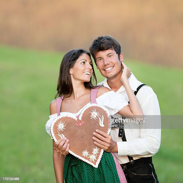 Take my Heart, Couple in Lederhose and Dirndl Tracht