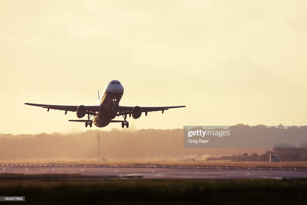 Take Off RF Image Of Airplane