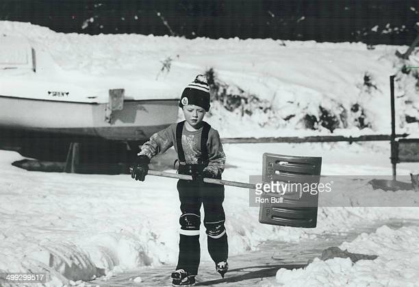Take out the shovel; it's Hockey time; When the snow's too deep to play hockey; it's time to take out the shovel and clear the ice so the game can...