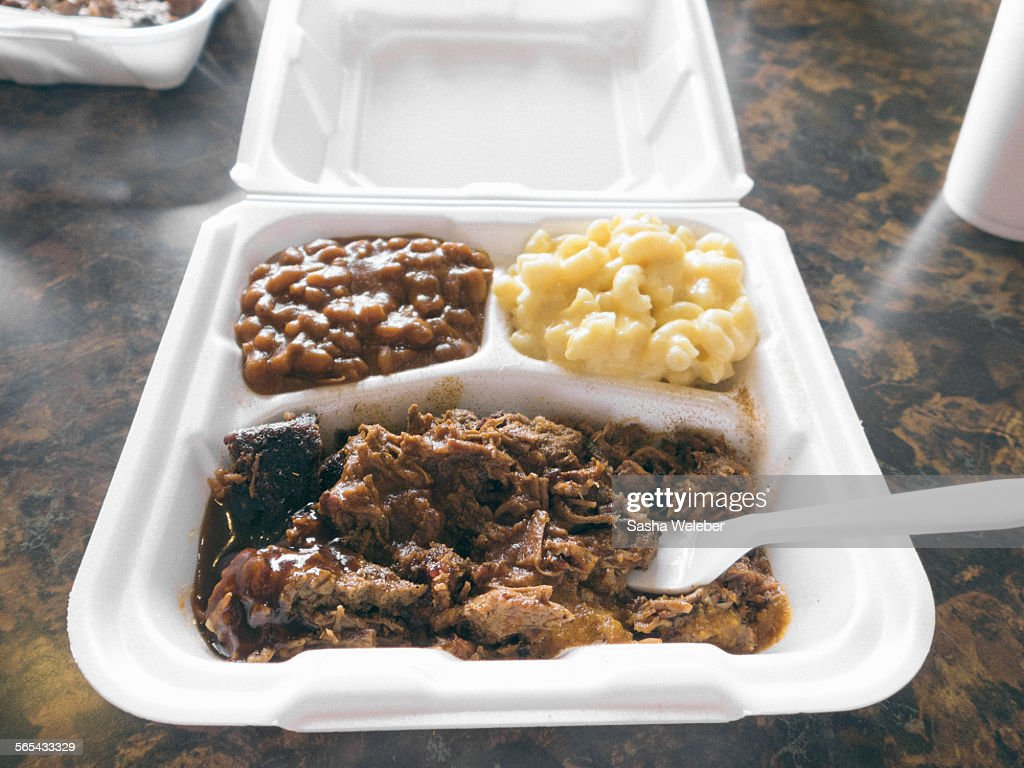 BBQ take out with fork : Stock Photo