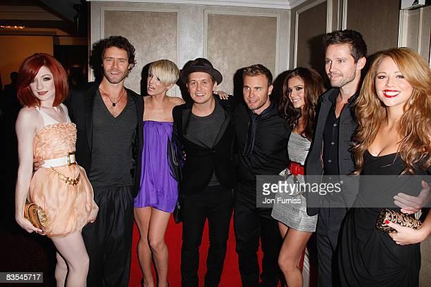 Take That and Girls Aloud , Gary Barlow, Nicola Roberts, Howard Donald, Sarah Harding, Mark Owen, Cheryl Cole, Jason Orange and Kimberley Walsh...