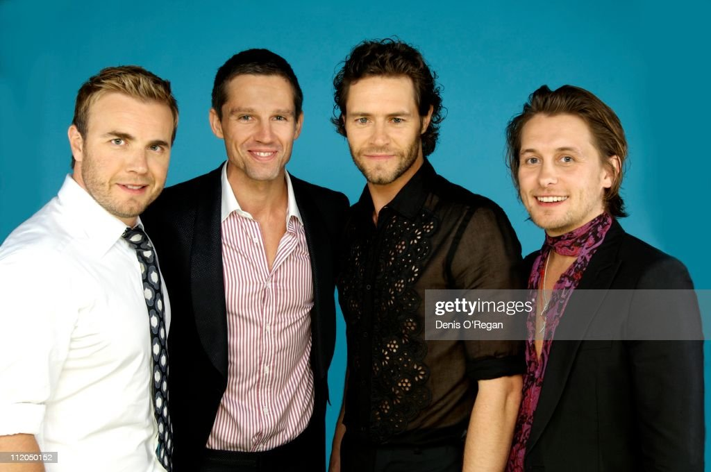 Take That at the Concert For Diana, 2007. From left to right, they are Gary Barlow, Jason Orange, Howard Donald and Mark Owen.