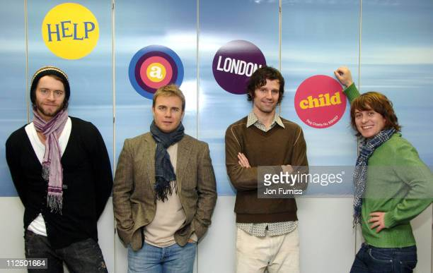 Take That during Take That at Captial Radio for Help A London Child at Capital Radio Studios in London Great Britain