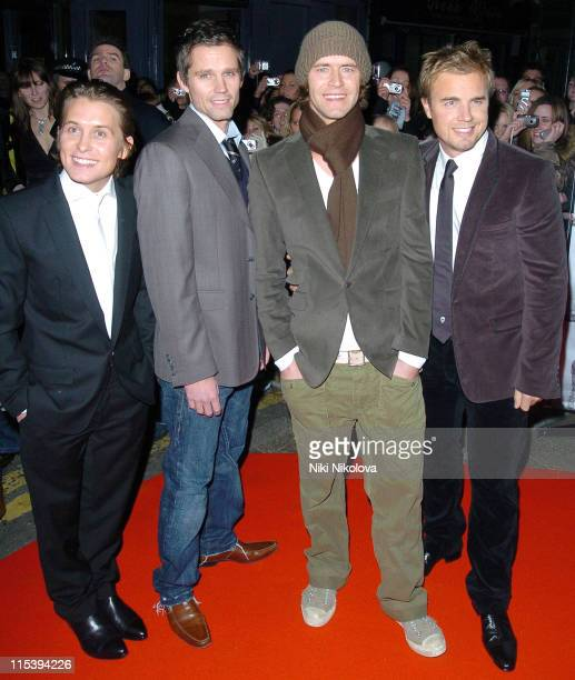 Take That during 'Take That Never Forget The Ultimate Collection' Preview Screening Arrivals at Coronet Cinema Notting Hill in London Great Britain