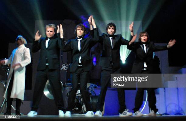 Take That during The 8th Annual White Tie and Tiara Ball to Benefit the Elton John AIDS Foundation in Association with Chopard Inside Dinner in...