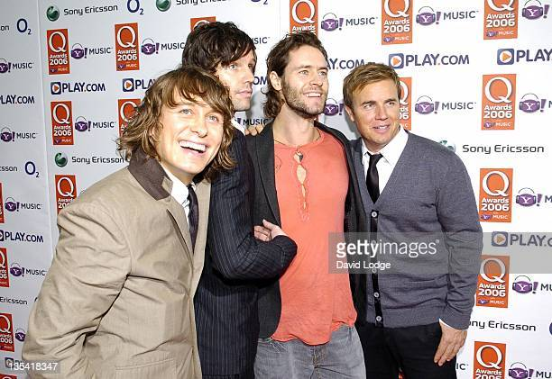 Take That during The Q Awards 2006 Arrivals at Grosvenor House Hotel in London Great Britain