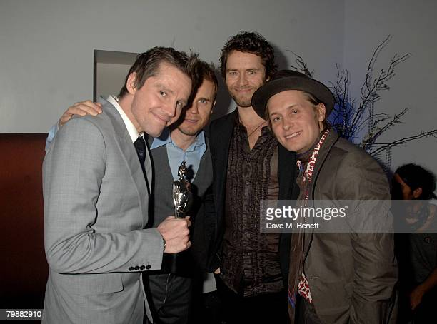 Take That members attend the Universal Brit Awards Party following the Brit Awards 2008 at the Hempel Hotel on February 20 2008 in London England
