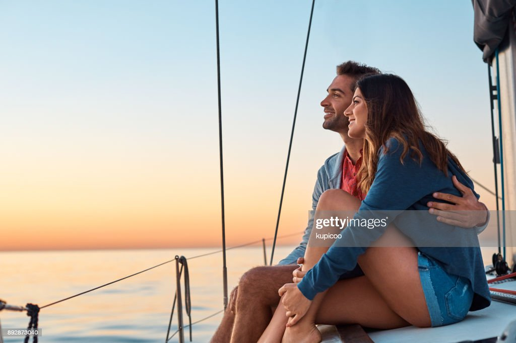 Take to the seas for a life of ease : Stock Photo