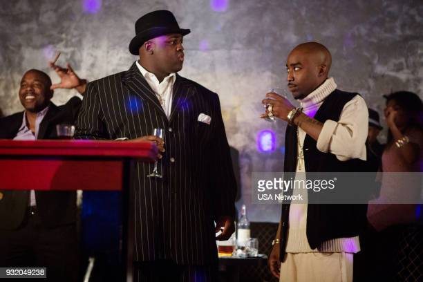 G 'Take your Best Shot' Episode 104 Pictured Wavyy Jonez as Christopher 'Biggie' Wallace Marcc Rose as Tupac Shakur
