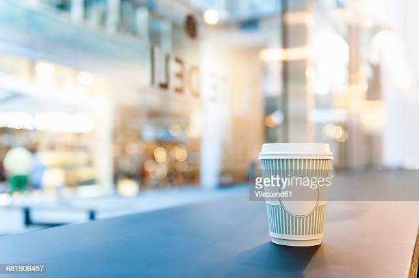 Takeaway coffee on counter