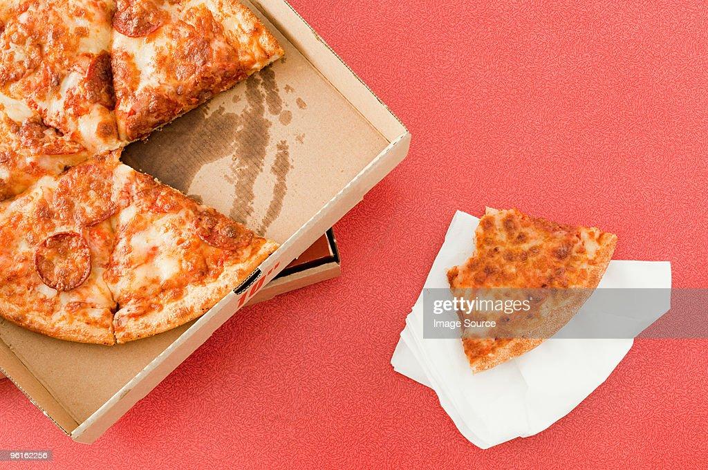 Takeaway pizza : Stock Photo