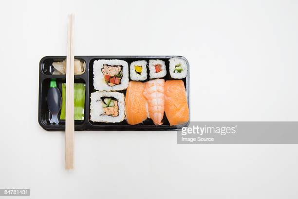 takeaway sushi - sushi stock pictures, royalty-free photos & images