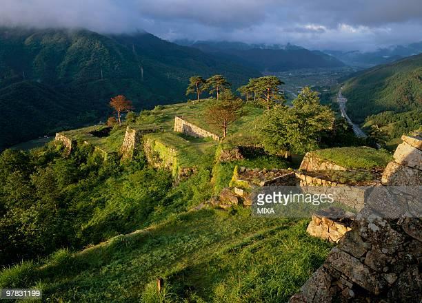 takeda castle, asago, hyogo, japan - 遺跡 ストックフォトと画像