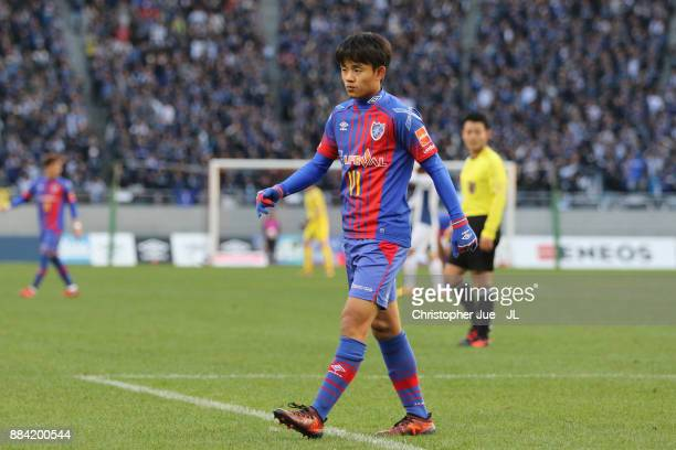 Takefusa Kubo of FC Tokyo is seen during the JLeague J1 match between FC Tokyo and Gamba Osaka at Ajinomoto Stadium on December 2 2017 in Chofu Tokyo...