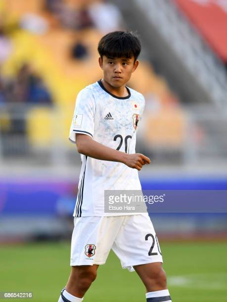 Takefusa Kubo of Japan in action during the FIFA U20 World Cup Korea Republic 2017 group D match between South Africa and Japan at Suwon World Cup...