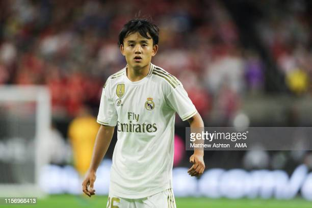 Takefusa Kubo of Real Madrid during the 2019 International Champions Cup match between FC Bayern Munich and Real Madrid at NRG Stadium on July 20...